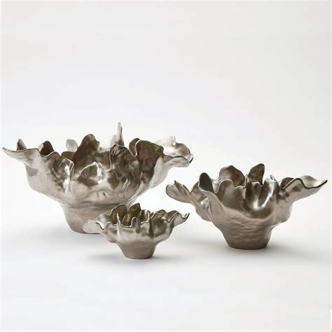 decorative bowls home decor meteor large silver haze bowl global views bowls