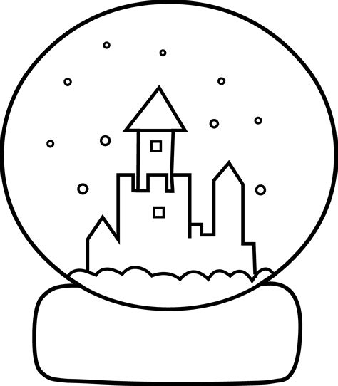 coloring page snow globe snow globe coloring page coloring home