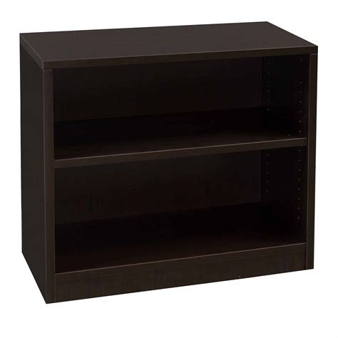 everyday 30 in 2 shelf laminate bookcase espresso