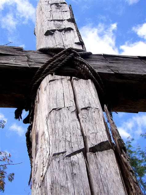 on that rugged cross cross the table
