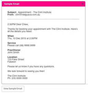 confirmation email template setting up appointment confirmation emails cliniko support