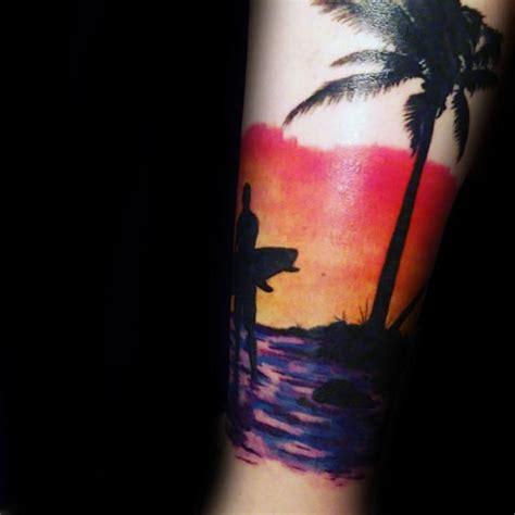 orange beach tattoo 90 surf tattoos for oceanic design ideas