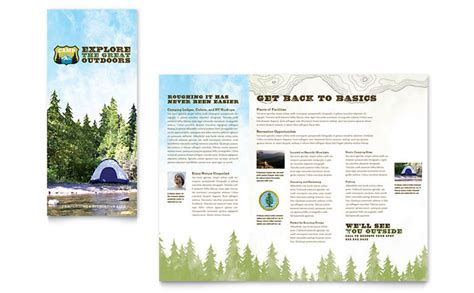 quark templates for brochures nature cing hiking brochure template design