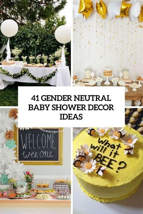 gender neutral baby shower decor ideas  excite
