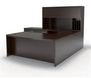 U Shaped Office Desk With Hutch Mayline At10l Aberdeen U Shaped Desk With Hutch And Lateral File