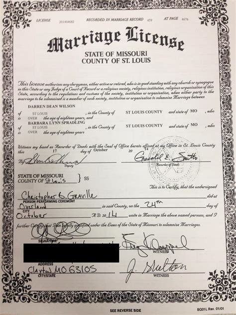 Louis Missouri Marriage Records Officer Darren Wilson Gets Married To Fellow Ferguson Cop Ny Daily News