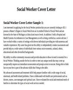 7 sle social worker cover letter free sle