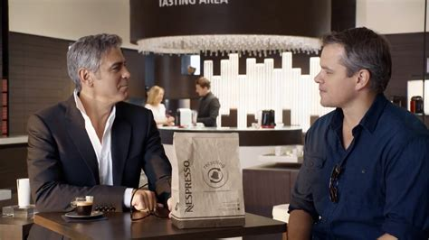 george clooney and matt damon matt damon joins george clooney in nespresso caign but