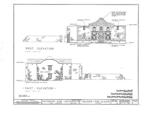 floor plan of the alamo habs tex 15 sant 15 sheet 3 of 17 mission san antonio