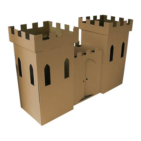 kid eco castle brown by kid eco cardboard toys