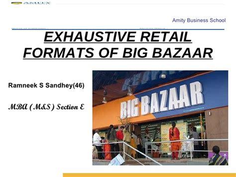 retail layout of big bazaar retail formats of big bazaar