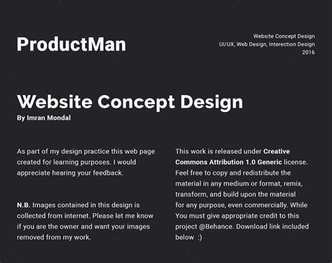 homepage design concepts productman website homepage design concept on behance