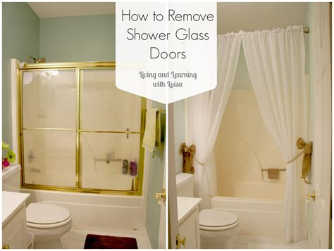 How To Remove Glass Shower Doors Easy Mini Bathroom Reno
