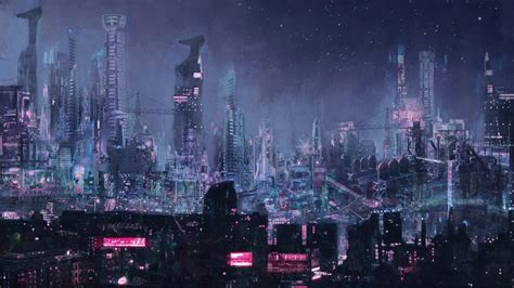 wallpaper future futuristic city concept art art