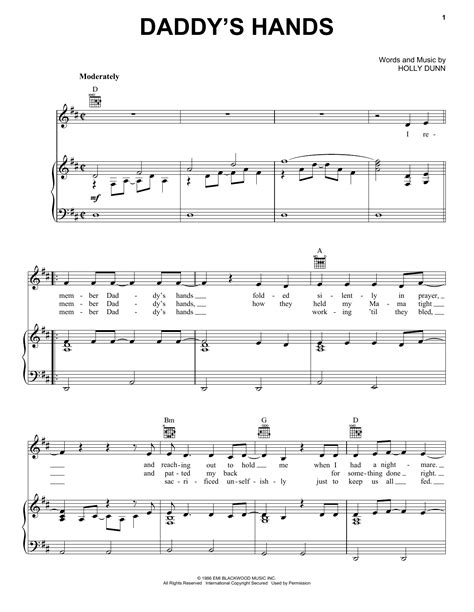 music in s daddy s hands sheet music direct