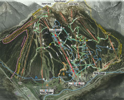 copper trail map trail map for skiing copper mountain copper vacations