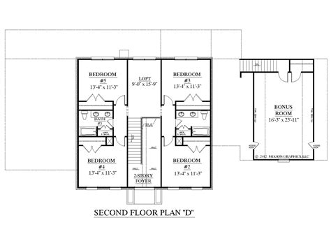 Upstairs Bedroom Layout Houseplans Biz House Plan 3397 D The Albany D