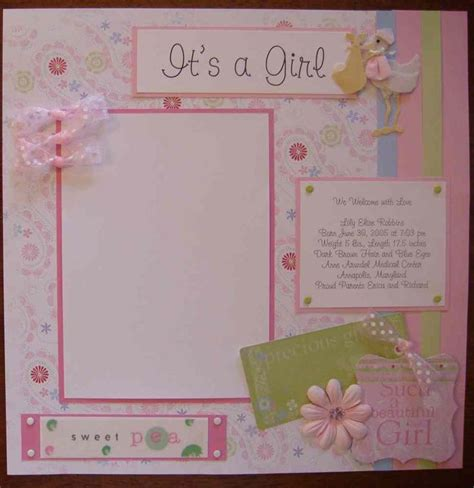 scrapbook layout baby girl 17 best images about scrapbook on pinterest scrapbook