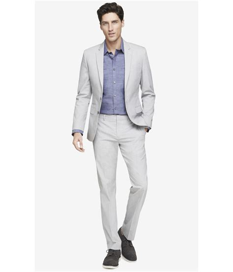 white pant suit lyst express pinstripe photographer suit pant in white for