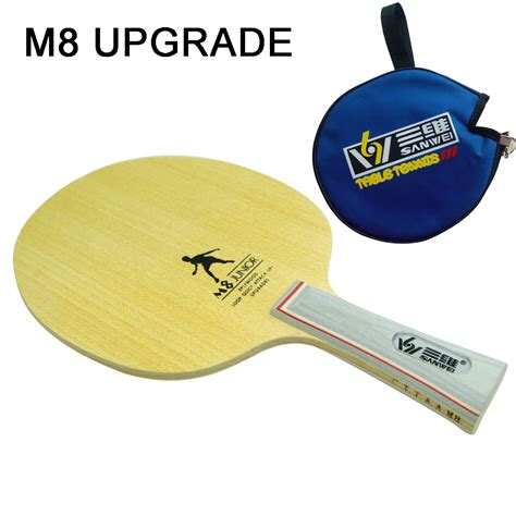Professional Table Tennis Paddles by New Sanwei M8 Junior Professional Table Tennis Blade Ping Pong Blade Table Tennis Bat Send