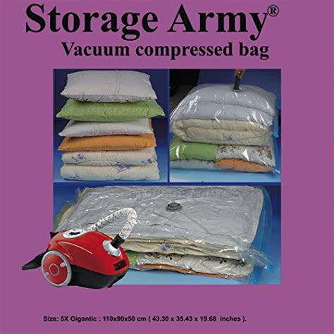 5 Gigantic Storage Bags Seal Compressed Vacuum Bag Storage
