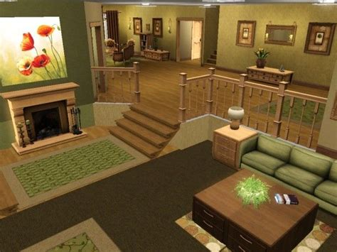 Sims 3 Room Ideas | split level living room sims 3 and 4 houses pinterest