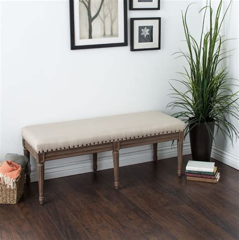 entryway settee benches for dining table upholstered bedroom armless
