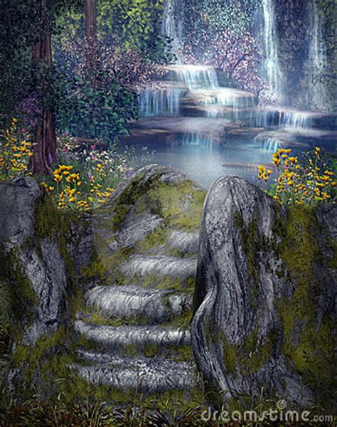 Fairytale Wall Murals fantasy waterfalls stock images image 14540524