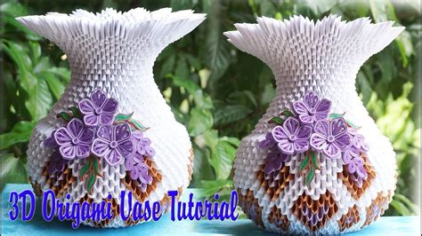 3d origami heart vase tutorial quilling english