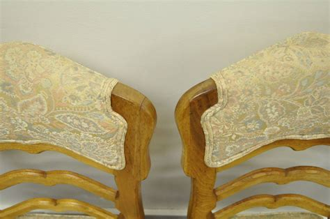 Country Style Upholstered Furniture by Six Country Style Carved And Upholstered Ladder