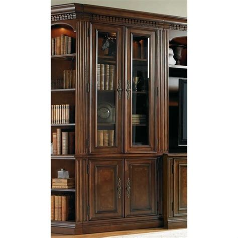 Cherry Bookcases With Glass Doors European Renaissance Ii Glass Door Bookcase In Cherry 374 10 447