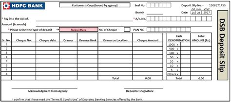 bank deposit slip template excel word and pdf http