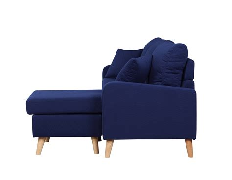 blue sectional sofa with chaise modern fabric small space sectional sofa with reversible