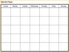 8 printable monthly calendar writable calendar