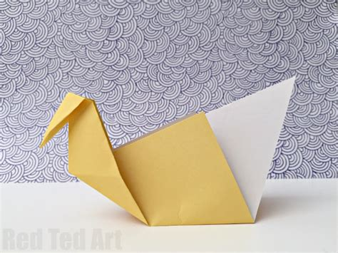 Easy Paper - easy origami swan a great intro to origami ted
