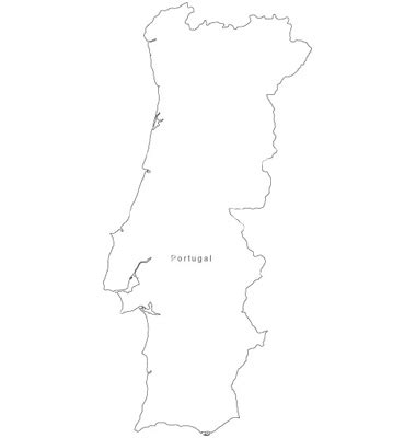 Portugal Map Outline by Black White Portugal Outline Map Vector By Bfordyce Image 950827 Vectorstock