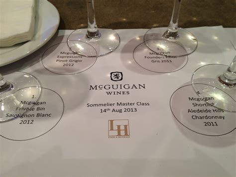 Mcguigan Handmade Shiraz - wine unwind mcguigan wines masterclass the westin