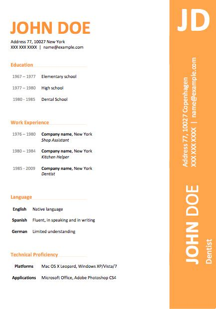 free modern templates 50 free microsoft word resume templates for