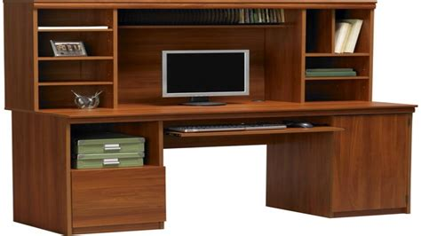 modern black computer desk office desk with hutch storage ameriwood computer desk