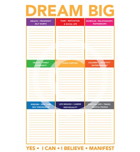 28 dream list template template simple colorful the