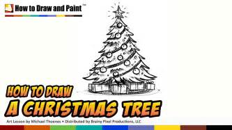 how to draw a christmas tree things to draw when you re