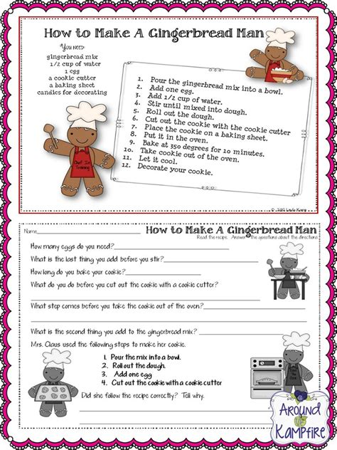 printable gingerbread man recipe 5 days of freebies day 5 around the kfire