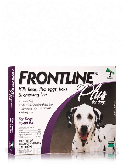 frontline plus for dogs 45 88 lbs frontline 174 plus for dogs 45 88 lbs 3 applicators