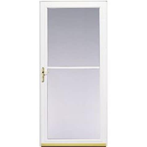 pella retractable screen door shop pella 3800 series white full view safety retractable