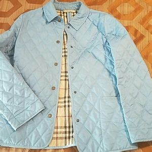 pink burberry quilted jacket  poshmark