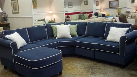 navy blue couch with white piping navy sectional sofa with white piping www energywarden net
