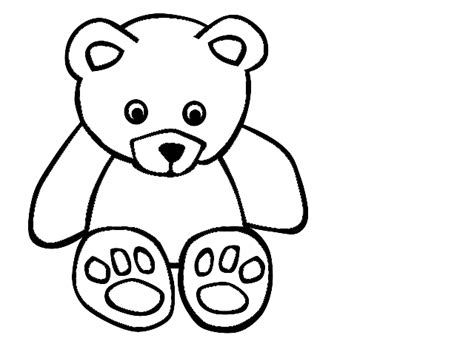 Teddy Outline Images by Teddy Outline Clipart Clipartfest