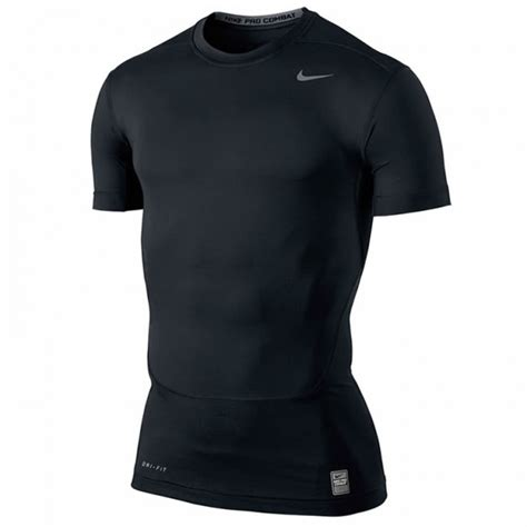 Baselayer Npc Nike Pro Combat Shortsleeve Compression Black Grey nike s pro combat compression sleeve top black t shirts tops s clothing