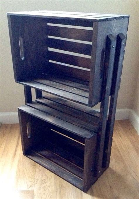 sale wooden crate 3 shelf bookcase shelving floor stand