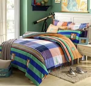 colorful comforter sets colorful stripe lattice bed sheet 4pcs bedding